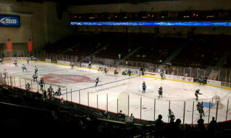 Seating view for Orleans Arena Section 113 Row T Seat 18