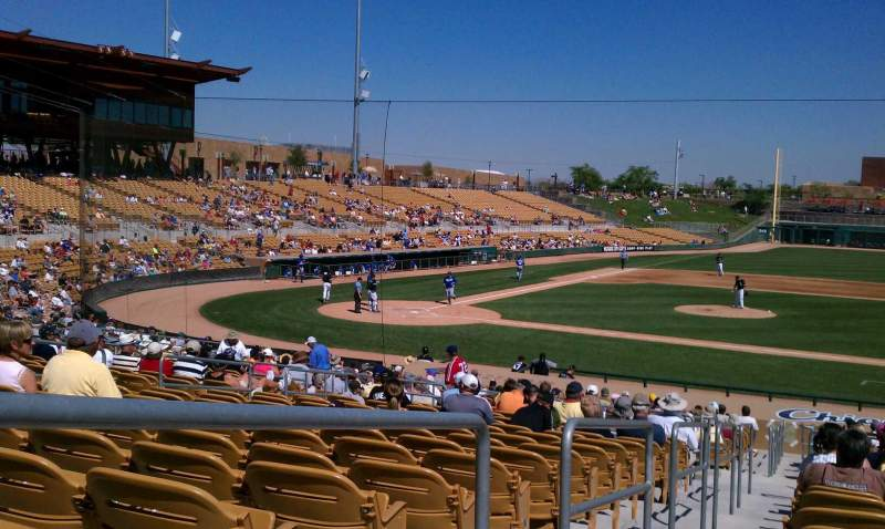 Seating view for Camelback Ranch Section 108 Row 18 Seat 10