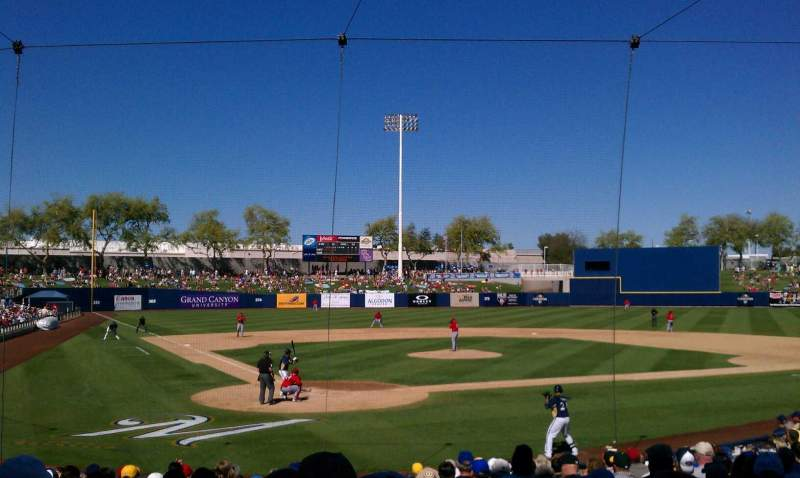 Seating view for Maryvale Baseball Park Section 101 Row T Seat 1