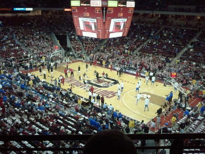 Seating view for Colonial Life Arena Section 205 Row 2 Seat 8