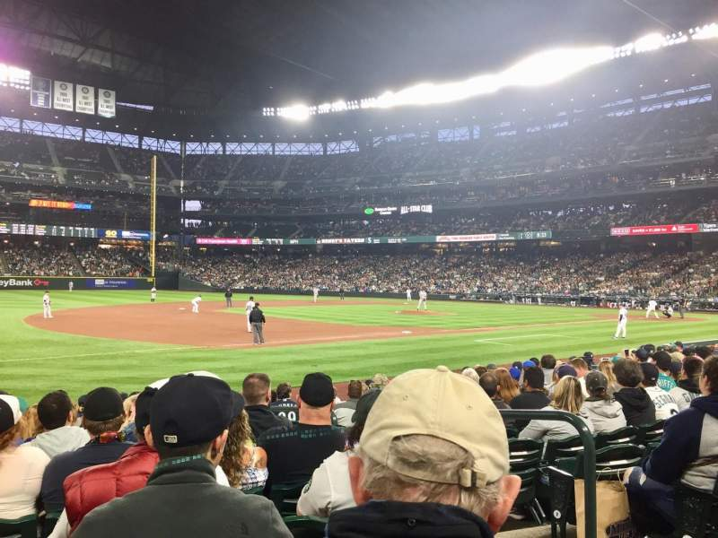 Seating view for T-Mobile Park Section 142 Row 12 Seat 4