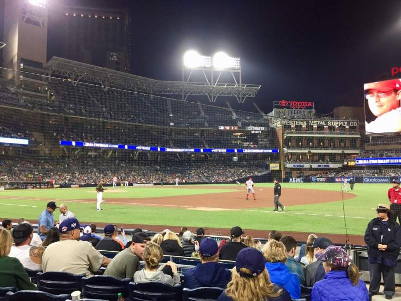 Seating view for Petco Park Section 113 Row 9 Seat 18