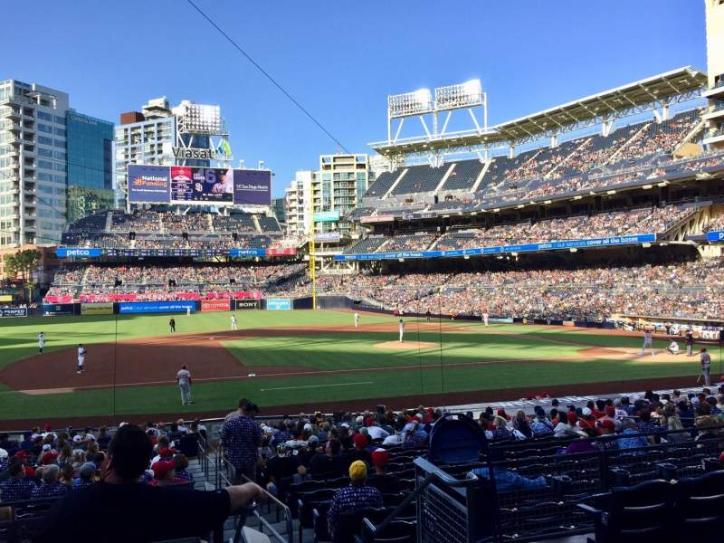 Seating view for PETCO Park Section 112 Row 27 Seat 1