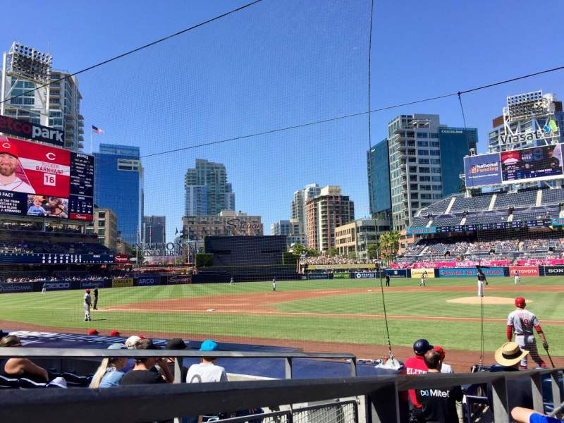 Seating view for PETCO Park Section 106 Row 13 Seat 13
