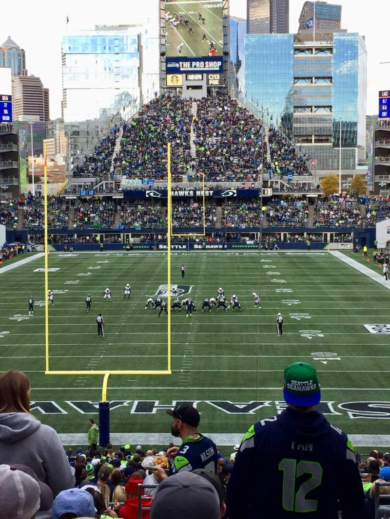 Seating view for CenturyLink Field Section 122 Row II Seat 1