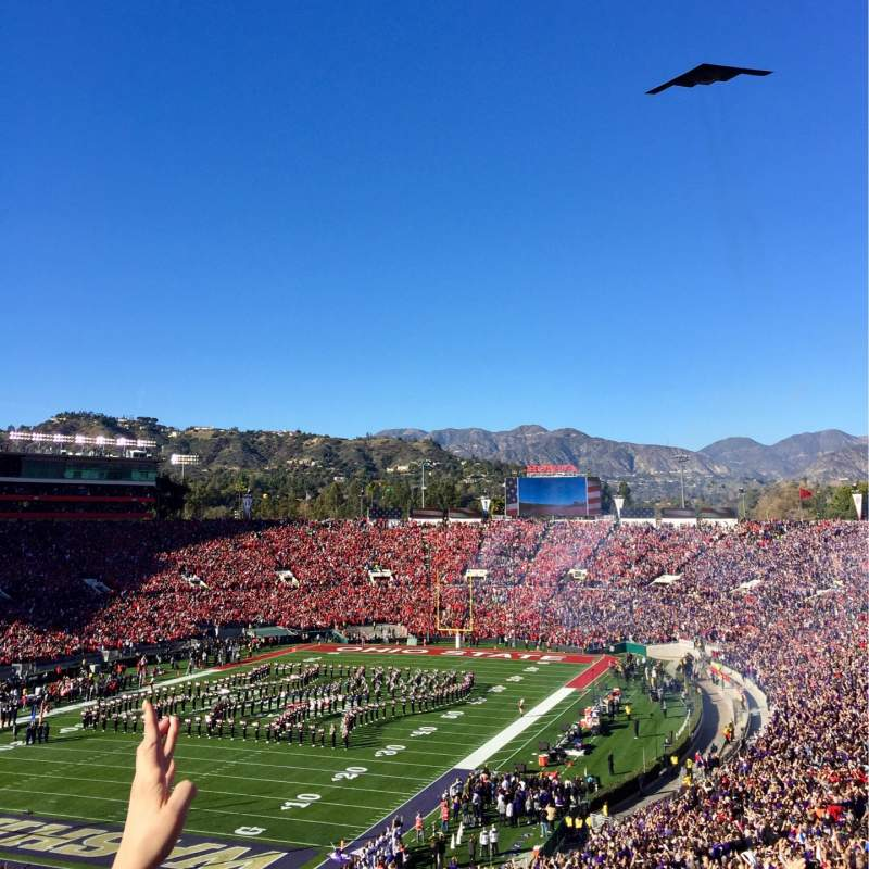 Seating view for Rose Bowl Section 28-L Row 72 Seat 35