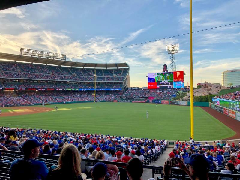 Seating view for Angel Stadium Section T229 Row D Seat 19