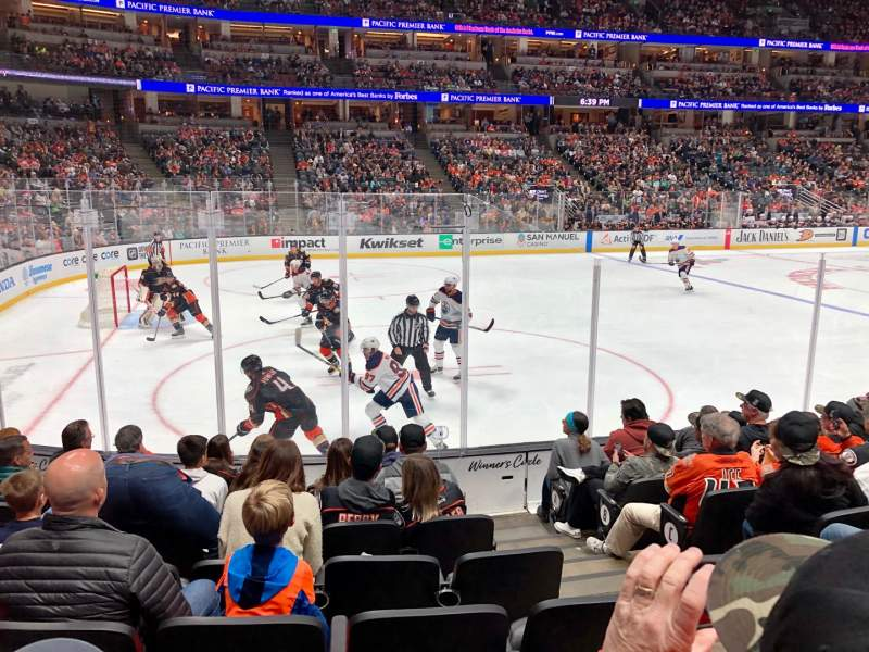 Seating view for Honda Center Section 225 Row H Seat 3