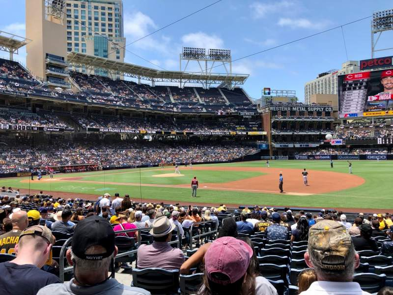 Seating view for PETCO Park Section 113 Row 24 Seat 3