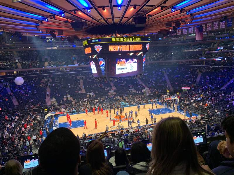 Seating view for Madison Square Garden Section 210 Row 4 Seat 9