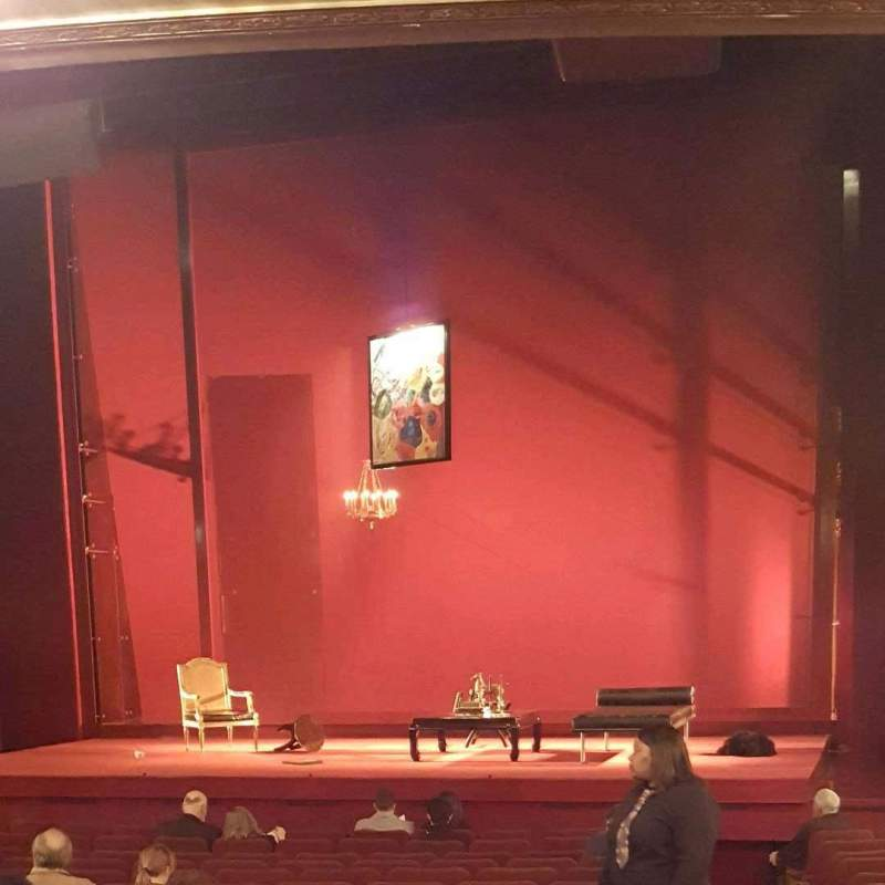 Seating view for Ethel Barrymore Theatre Section Orchestra R Row P Seat 2