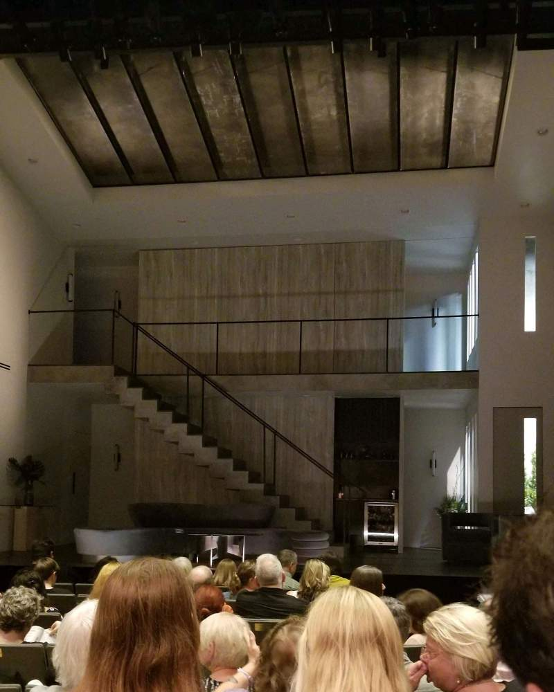 Seating view for Laura Pels Theatre Section Orch Row J Seat 104
