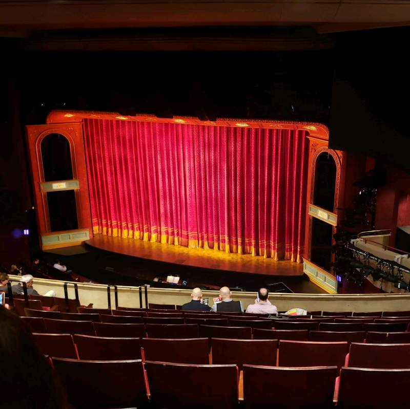 Seating view for Marquis Theatre Section Mezz Row K Seat 18