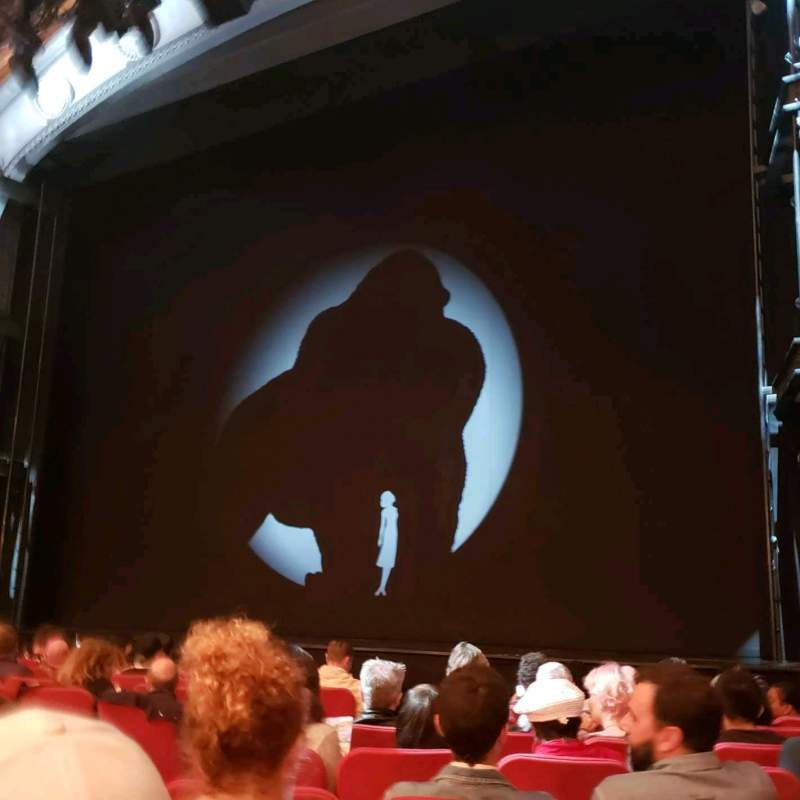 Seating view for Broadway Theatre - 53rd Street Section Orchestra R Row J Seat 9