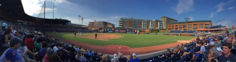 Seating view for Durham Bulls Athletic Park Section 116 Row F Seat 13
