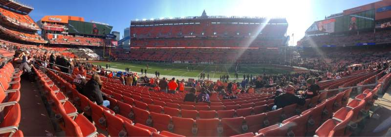 Seating view for FirstEnergy Stadium Section 135 Row 17 Seat 15