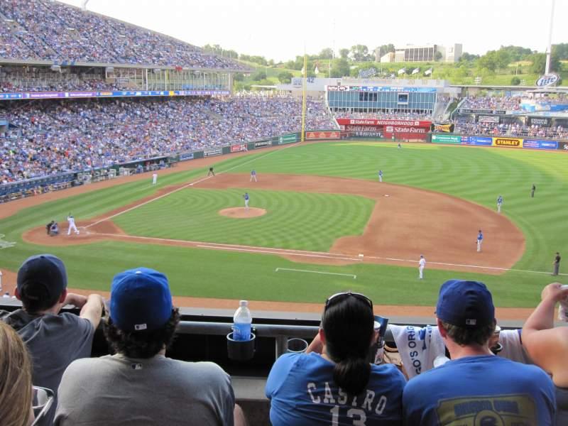 Kauffman Stadium, section: 317, row: C, seat: 9
