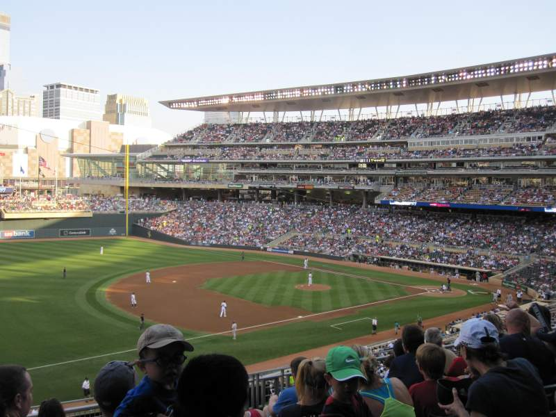Seating view for Target Field Section S Row 7 Seat 14