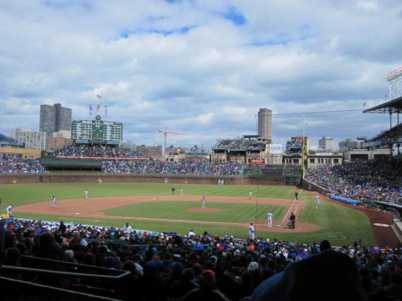 Seating view for Wrigley Field Section 216 Row 5 Seat 9