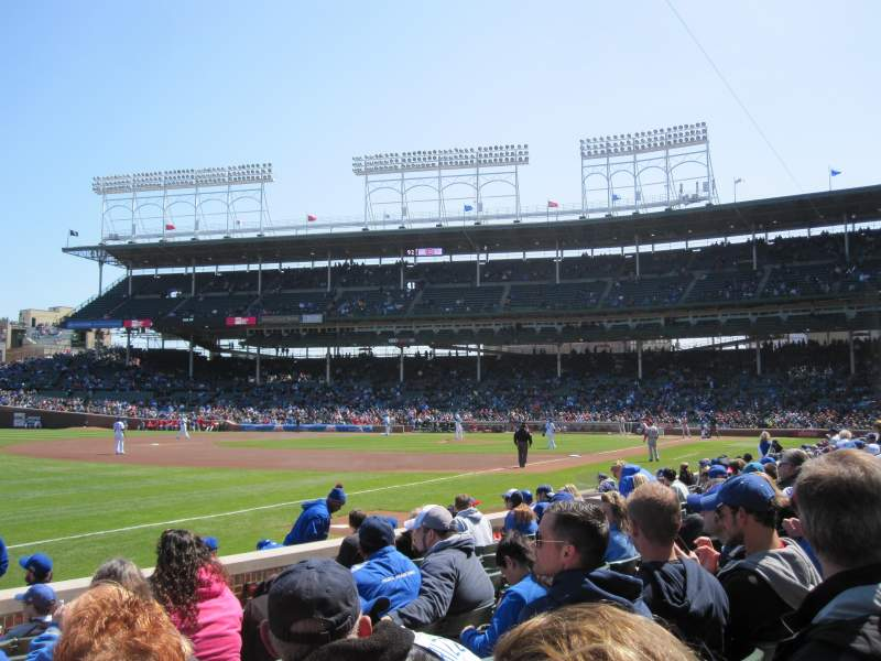 Seating view for Wrigley Field Section 6 Row 8 Seat 1
