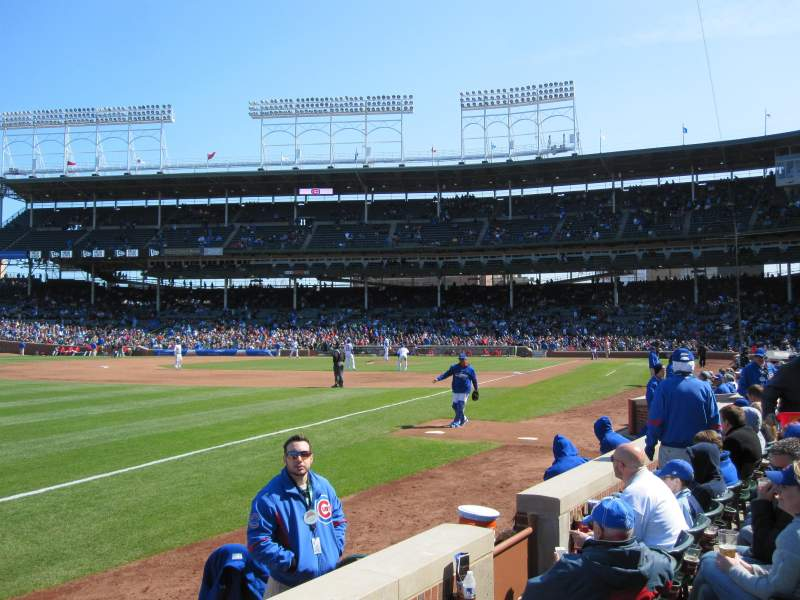 Seating view for Wrigley Field Section 6 Row 2 Seat 1