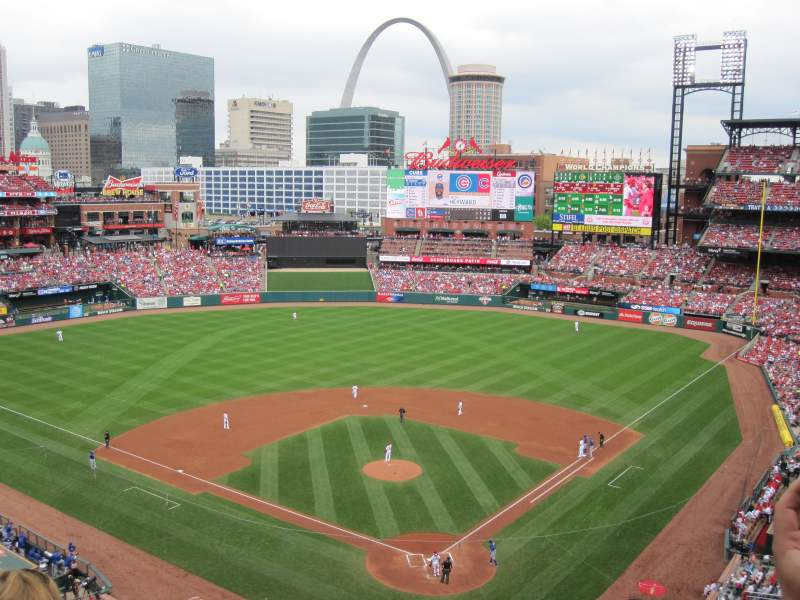 Seating view for Busch Stadium Section 351 Row 5 Seat 12