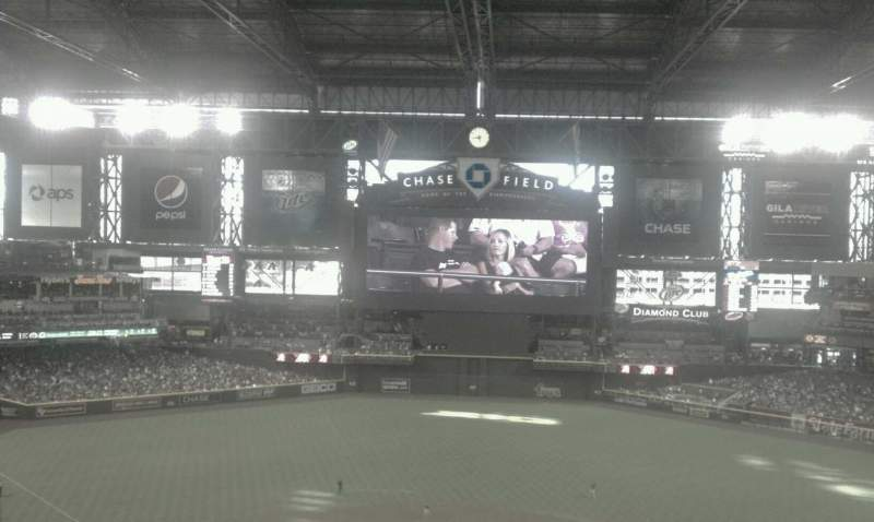 Seating view for Chase Field Section 316 Row 14 Seat 1