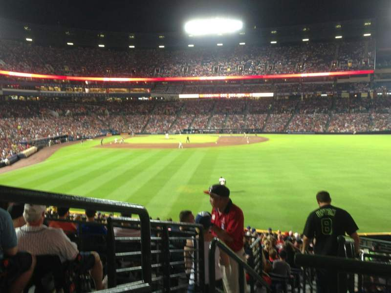 Seating view for Turner Field Section 239 Row 5 Seat 1