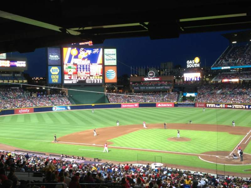 Seating view for Turner Field Section 114 Row 36 Seat 1