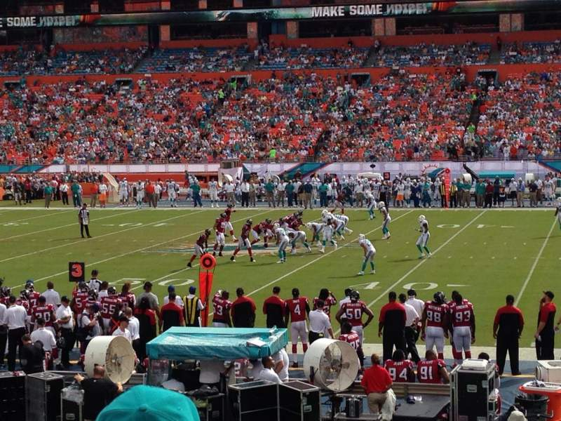 Seating view for Hard Rock Stadium Section 113 Row 14 Seat 7
