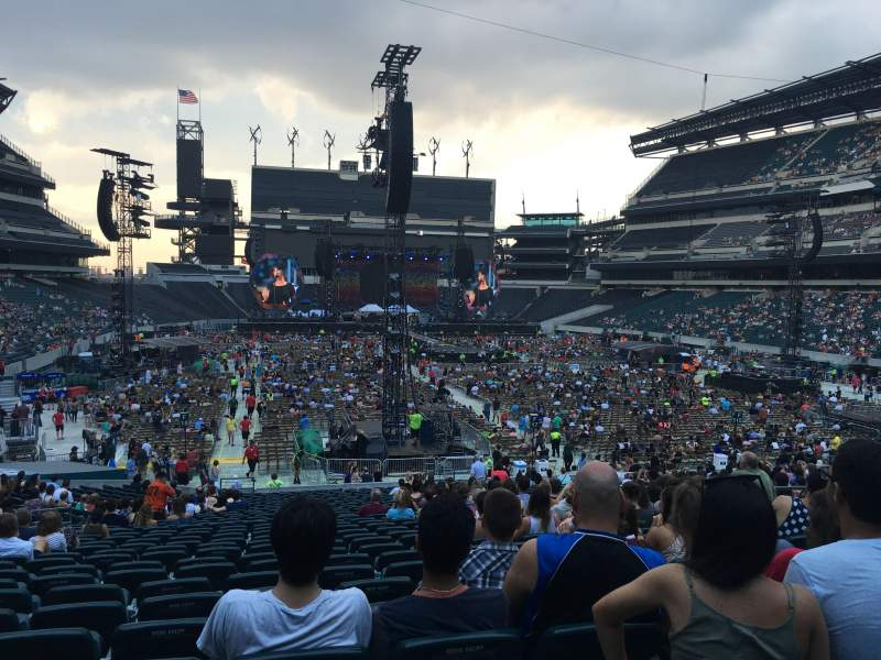 Seating view for Lincoln Financial Field Section 109 Row 31 Seat 9-10