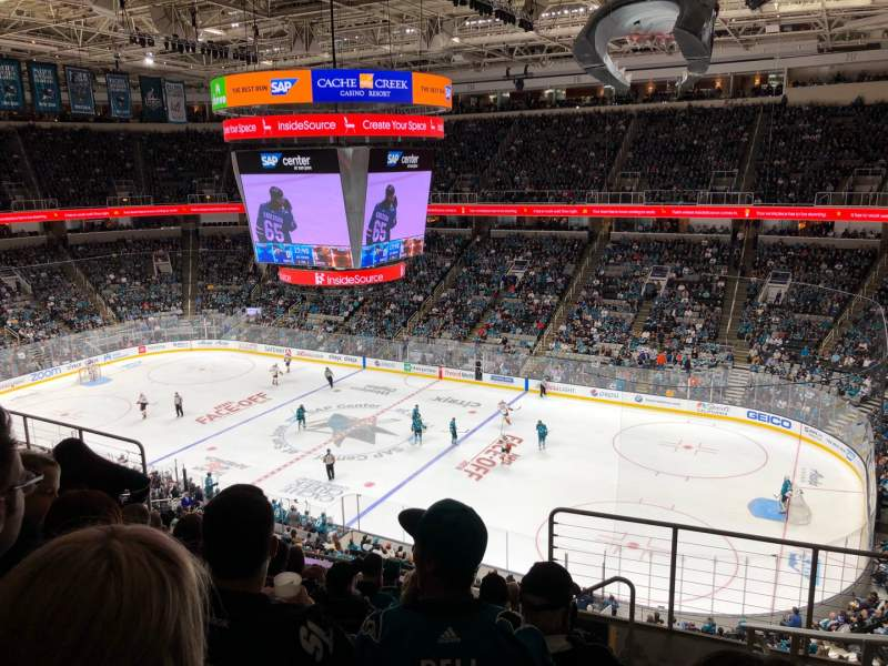 Seating view for SAP Center Section 227 Row 8 Seat 7
