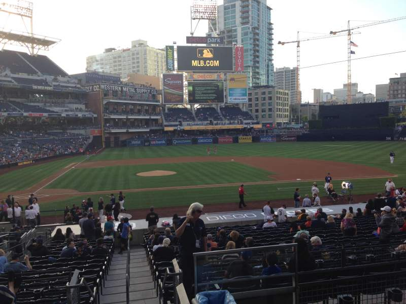 Seating view for PETCO Park Section 107 Row 29 Seat 1