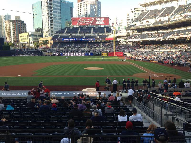 Seating view for PETCO Park Section 108 Row 26 Seat 4