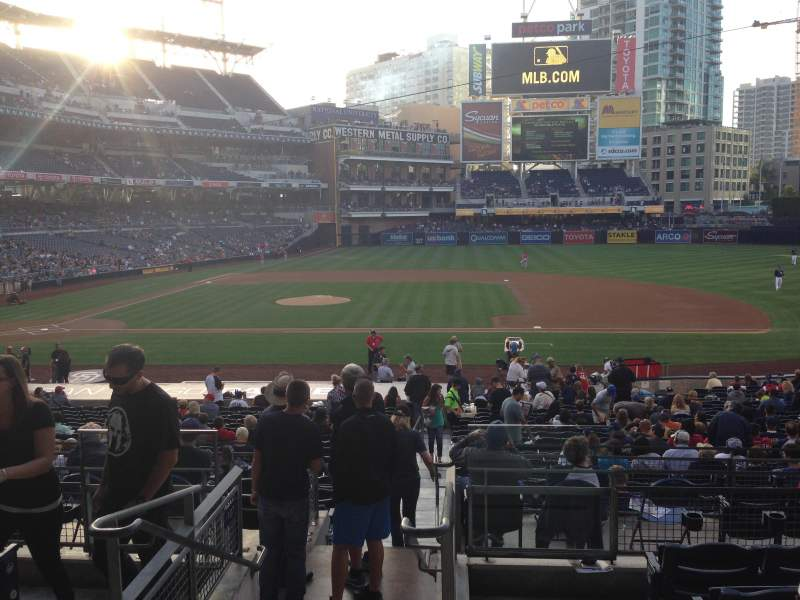 Seating view for PETCO Park Section 109 Row 31 Seat 1
