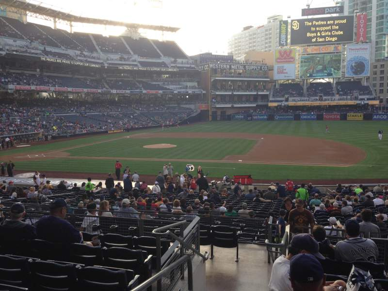 Seating view for PETCO Park Section 111 Row 32 Seat 1