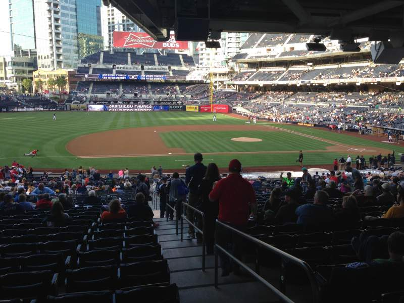 Seating view for PETCO Park Section 112 Row 42 Seat 1