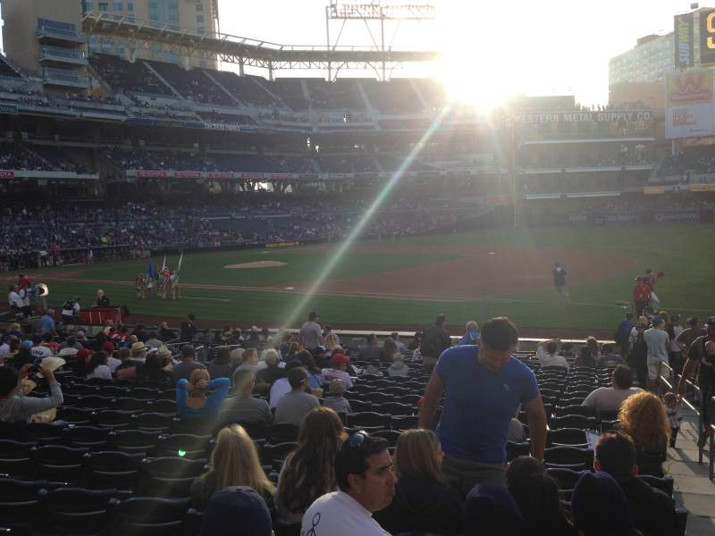 Seating view for PETCO Park Section 113 Row 22 Seat 18