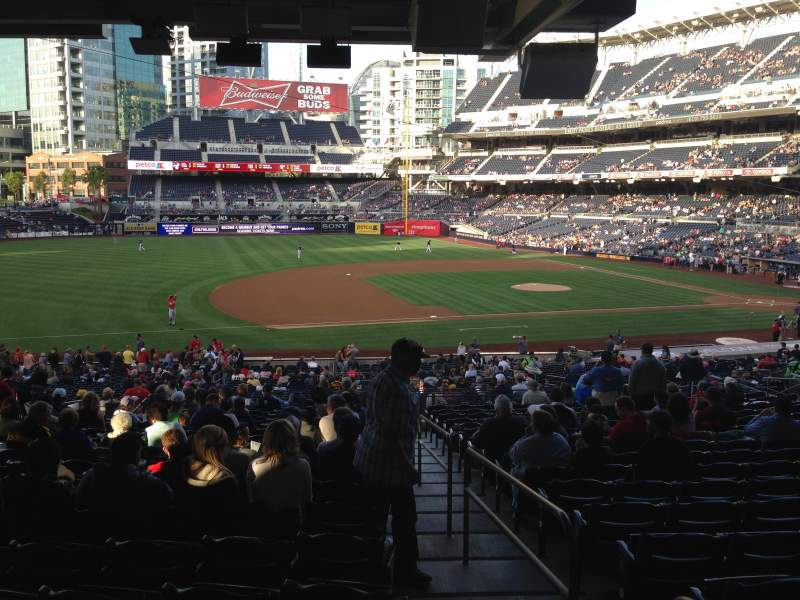 Seating view for PETCO Park Section 114 Row 43 Seat 1