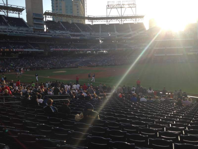 Seating view for PETCO Park Section 117 Row 25 Seat 17