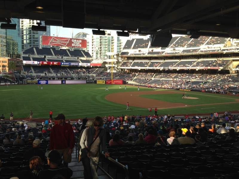 Seating view for PETCO Park Section 118 Row 43 Seat 1
