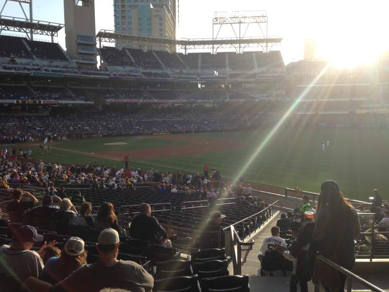 Seating view for PETCO Park Section 119 Row 34 Seat 19