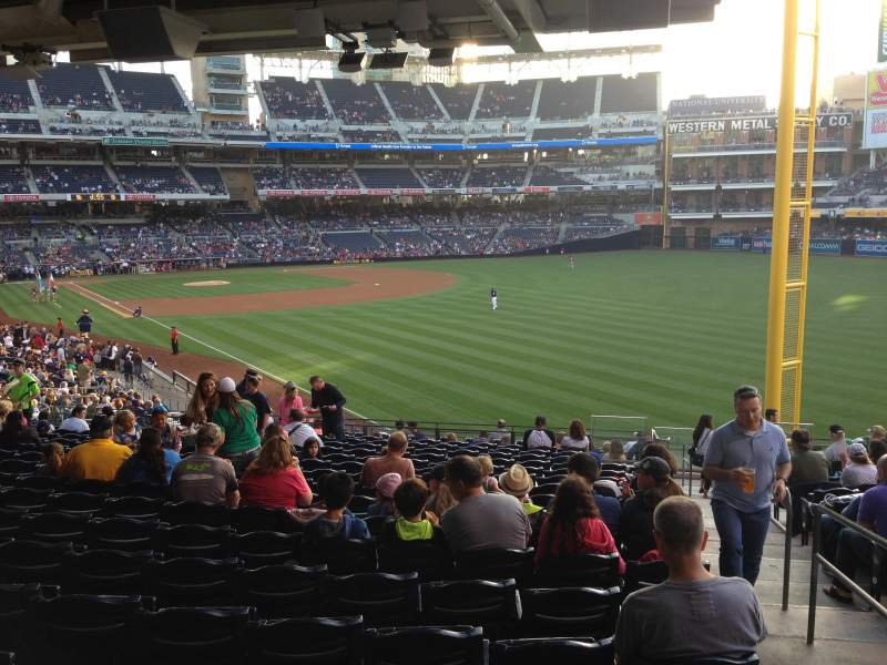 Seating view for PETCO Park Section 123 Row 43 Seat 24