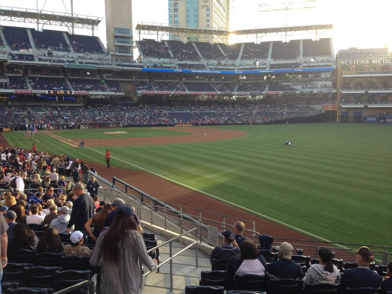 Seating view for PETCO Park Section 123 Row 27 Seat 4