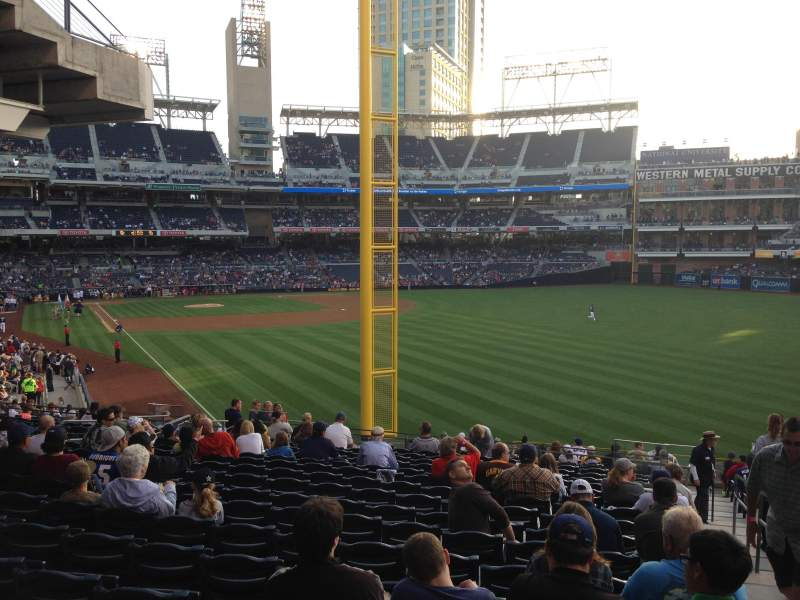 Seating view for PETCO Park Section 125 Row 43 Seat 18