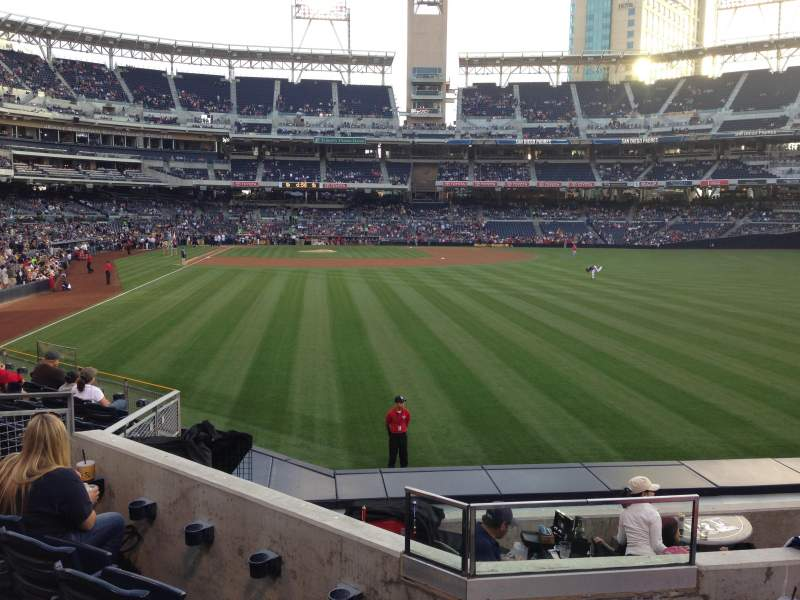 Seating view for PETCO Park Section 129 Row 4 Seat 10