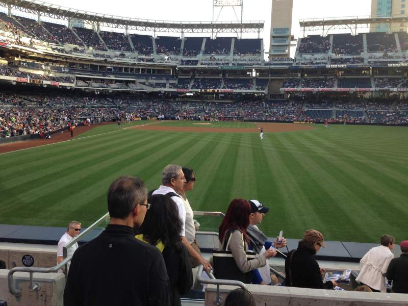 Seating view for PETCO Park Section 133 Row 4 Seat 1