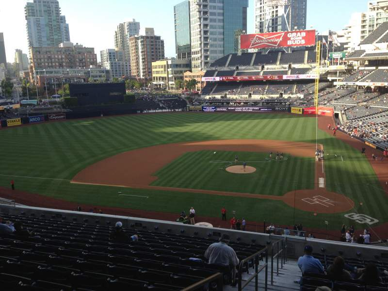 Seating view for PETCO Park Section 204 Row 15 Seat 16