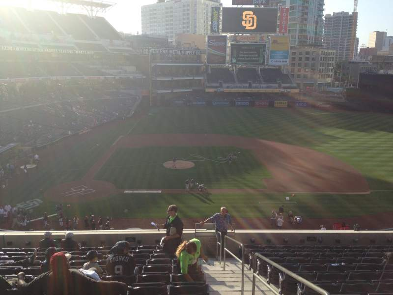 Seating view for PETCO Park Section 205 Row 13 Seat 1