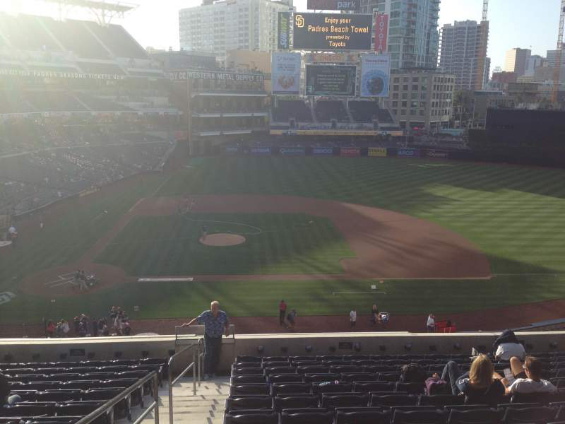 Seating view for PETCO Park Section 207 Row 13 Seat 1